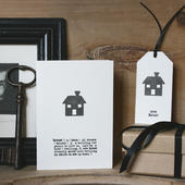 new house card in black