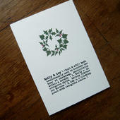 holly & ivy card